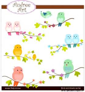 Spring Birds Clip Art