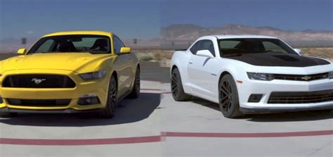 Camaro Ss Vs Mustang Gt by Motor Trend Tries The Ford Mustang Against The Chevy