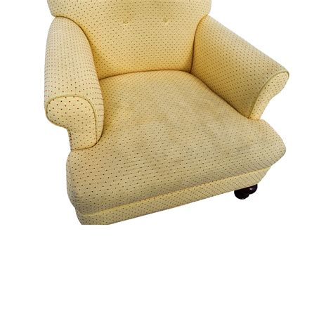 arm chair with ottoman 90 off yellow arm chair with ottoman chairs