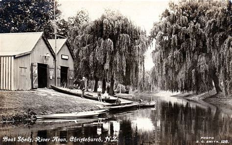 Boat Dealers Christchurch New Zealand by No 128 Boat Sheds River Avon Christchurch N Z New