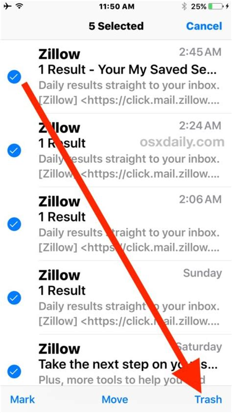 how to delete all your emails on iphone ios 10 how to delete all mail