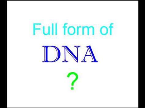 dna full form of youtube