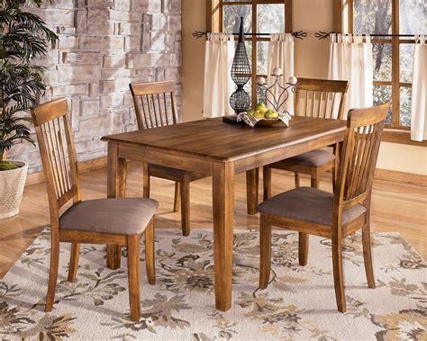 ashley rustic dinette table set  furniture place