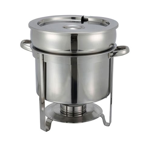 chafing dish warmer winco 211 11 qt soup warmer stainless 2074