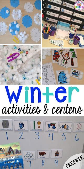 winter themed activities and centers snowman at 269 | Slide1 2 1