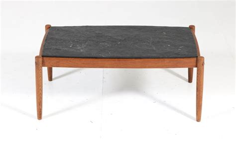 They look very warm, trendy, elegant and at the same time another variant is modern oak side table with matching hairpin legs, open shelves for storage. Oak Belgium Mid-Century Modern Coffee Table with Slate Top, 1960s For Sale at 1stdibs