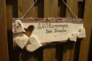 Türschild Familie Holz : lich willkommen bei familie t rschilder herzlich ~ Lizthompson.info Haus und Dekorationen