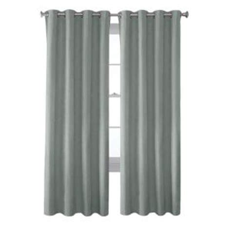 Curtain Grommet Kit Home Depot by Solaris Mist Faux Suede Grommet Curtain 1 Panel 1627822