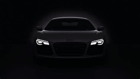 Dark Cars Audi R8 Headlights 2013 Wallpaper