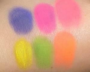 MAC Cosmetics Neon2 Pigment Swatches