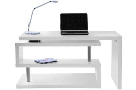 bureau design blanc mat amovible max miliboo