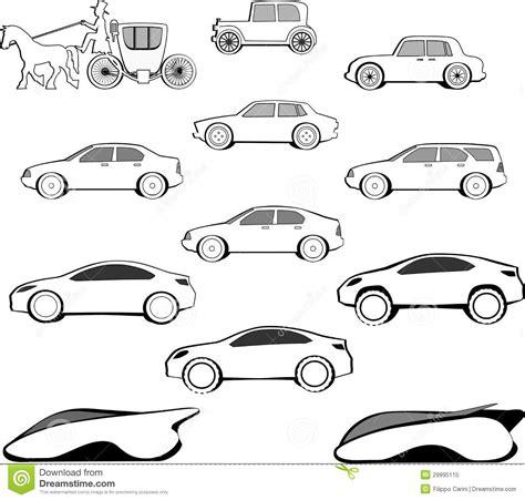 si鑒e automobile evoluzione dell 39 automobile di secolo fotografia stock libera da diritti immagine 29995115