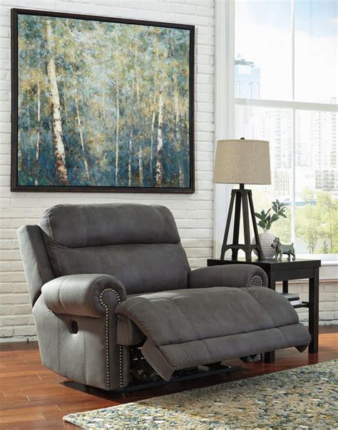 austere gray zero wall power wide recliner 3840182