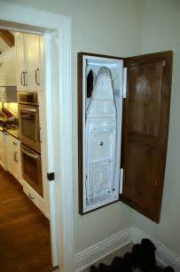 ironing board cabinet laundry room traditional with built