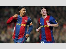 Ronaldinho and Messi, a lethal combination FC Barcelona