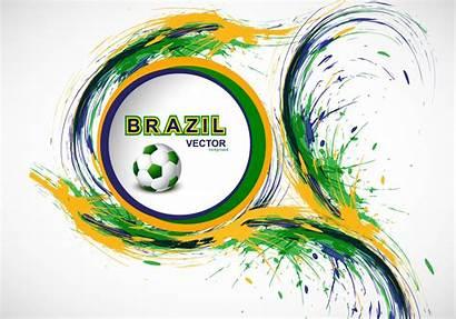Flag Splash Brazilian Soccer Vecteezy Graphics