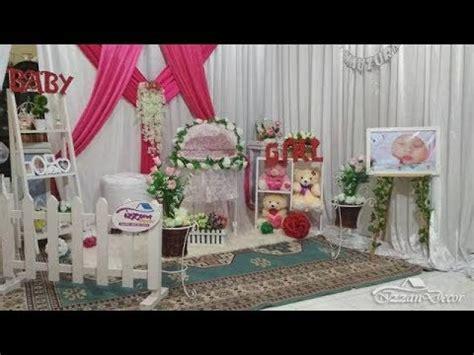 dekorasi ruangan acara aqiqah baby raifa mauzura versi