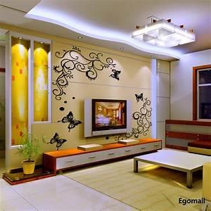 3D Butterflies Wall Sticker Living Room Bedroom Background ...