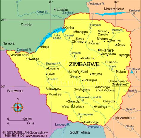 maps map zimbabwe