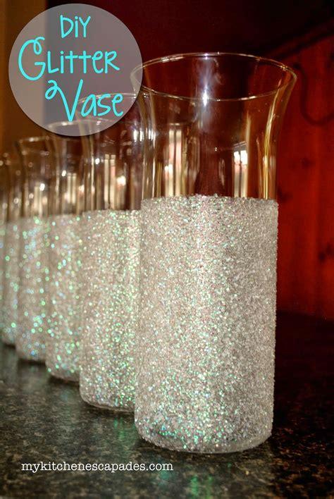 Glitter Vases For Wedding Or Christmas Decorations Diy
