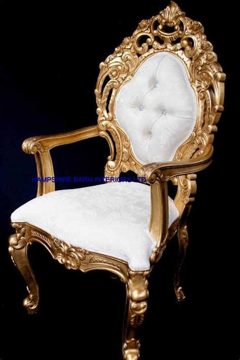 Bedside Tables And Dressers by A A Ornate Royal Palace Throne Chair In Gold Leaf Frame