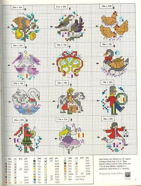 186 best images about 12 days of christmas stitching on