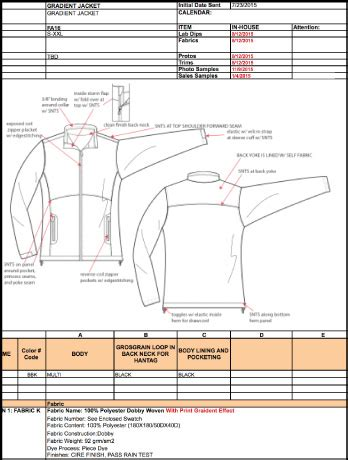 tech pack template tech pack template illustrator for fashion design courses tutorials