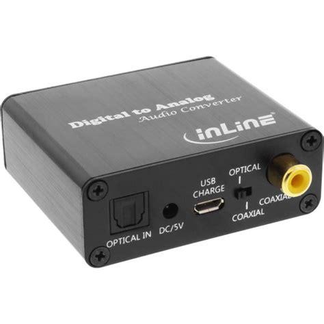 ingresso audio digitale ottico inline 174 audio converter digitale analogico ingresso