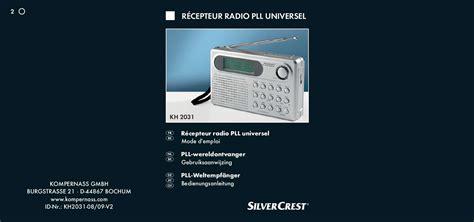 radio cuisine lidl notice radio cuisine silvercrest