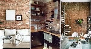 Mur En Brique Intérieur : mur en briques 17 inspirations pour un style loft ~ Melissatoandfro.com Idées de Décoration