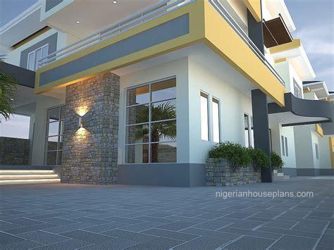 bedroom duplex  pent houseref  nigerianhouseplans