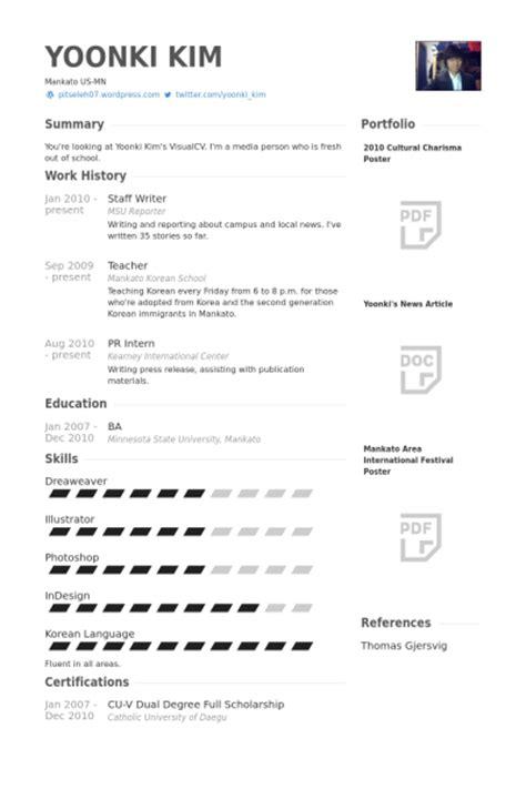 staff writer resume sles visualcv resume sles database