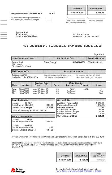 free utility bill template eliolera