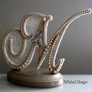 wedding cake topper custom monogram letter m by ndetaildesign With letter m wedding cake topper