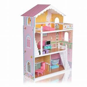 Barbiehaus Aus Holz : puppenhaus holz puppenstube dollhouse 2 etagen zubeh r barbiehaus puppenm bel ebay ~ Orissabook.com Haus und Dekorationen