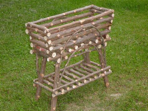 maine rustic cedar plant stand  logcabindecor  etsy