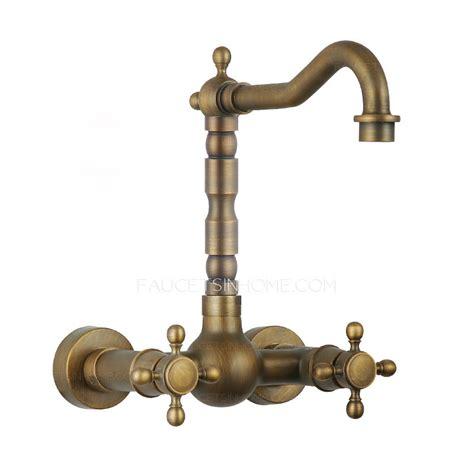 vintage heightening 2 handle bronze kitchen sink faucets