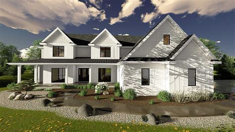 5 Bedroom Modern Farmhouse Plan