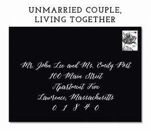 envelope addressing etiquette emily rose ink With wedding invitation etiquette unmarried couple living together