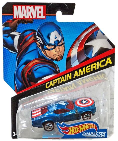 Hot Wheels Marvel Character Cars Captain America Diecast
