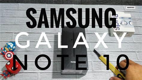 unboxing samsung galaxy note 10 aura black resmi indonesia youtube