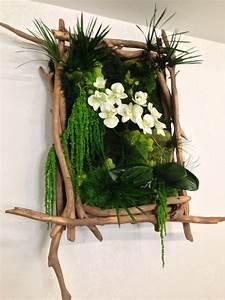 Tableau En Bois Décoration : d coration tableau vegetal ~ Teatrodelosmanantiales.com Idées de Décoration