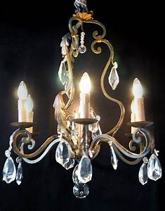 Wrought iron chandelier baran de bordeaux
