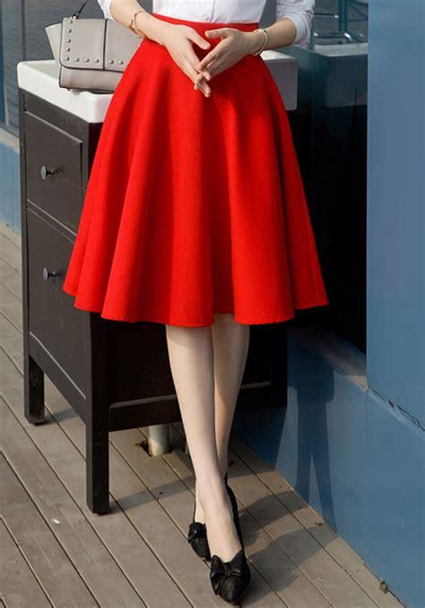 mi longue jupe patineuse bouffante taille haute mode femme
