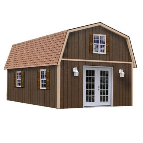 16x32 Shed Home Depot by Best Barns Richmond 16 Ft X 32 Ft Wood Storage Building