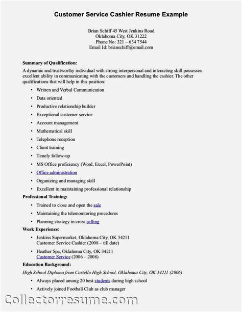 excellent customer service skills resume resume template