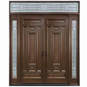 Prettywood, Catalogue, Villa, Exterior, Front, Design, Entry, Double, Leaf, Wooden, Door