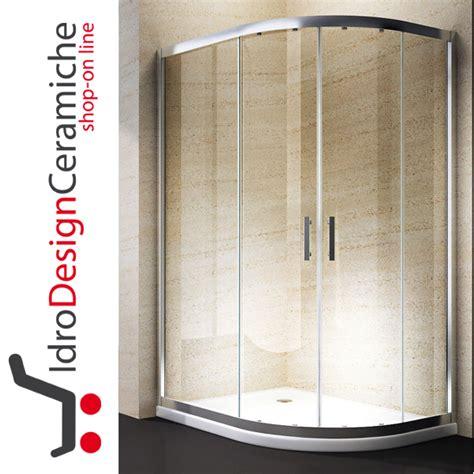 Box Doccia Semicircolare 70 X 70 by Box Doccia Curvo 70x90 Cristallo 6mm Con Piatto In