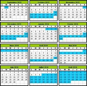 Dates De Vacances Scolaires 2016 : calendrier scolaire 2015 2016 ~ Melissatoandfro.com Idées de Décoration