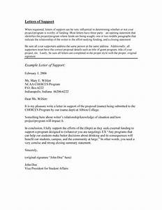 40 proven letter of support templates financial for With letter of support template grant